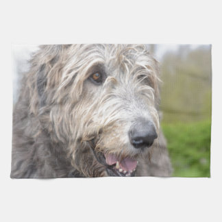 Cute Irish Wolfhound Kitchen Towel