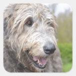 Cute Irish Wolfhound Stickers