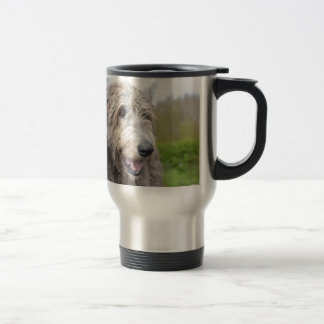 Cute Irish Wolfhound Travel Mug