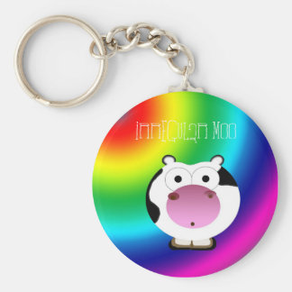 Cute Irregular Moo Keychain