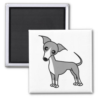Cute Italian Greyhound - Grey Magnet