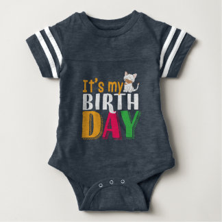 Cute It's My Birthday for Cat and Kitten Lover Baby Bodysuit