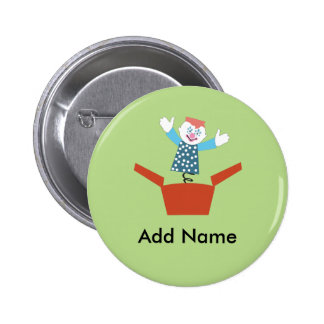 Cute Jack in the Box 2 Inch Round Button