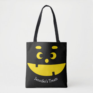 Cute Jack O Lantern Halloween Funny Pumpkin Face Tote Bag