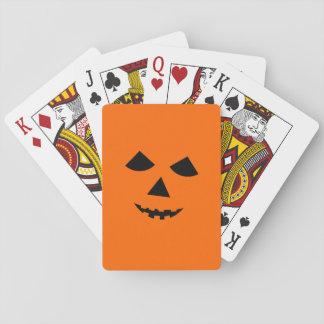 Cute Jack o Lantern Pumpkin Face Halloween Games Deck Of Cards