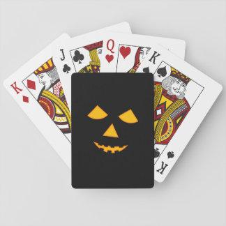 Cute Jack o Lantern Pumpkin Face Halloween Games Card Deck