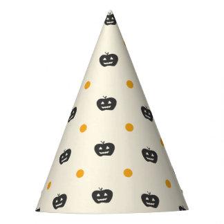 Cute Jack O Lantern White Polka Dots Party Hat