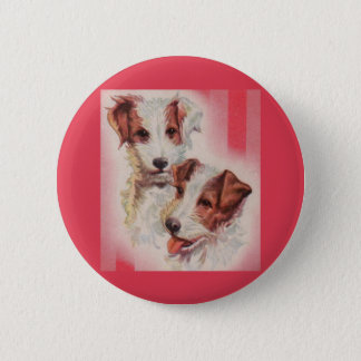 CUTE Jack Russell terriers illustration 2 Inch Round Button