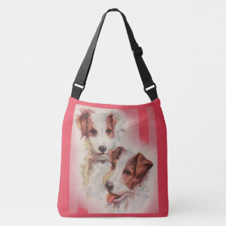 CUTE Jack Russell terriers illustration Crossbody Bag