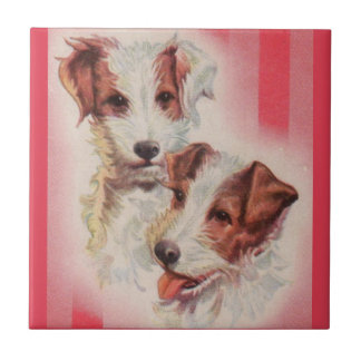 CUTE Jack Russell terriers illustration Tile