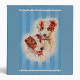 CUTE Jack Russell terriers illustration Vinyl Binders