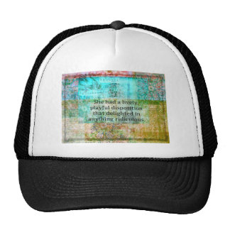 Cute Jane Austen quote from Pride and Prejudice Trucker Hat
