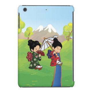 Cute Japanese inspired Girls walking iPad Mini Retina Case