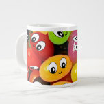 Cute Jelly Bean Smileys Jumbo Mugs