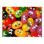 Cute Jelly Bean Smileys Postcards