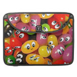 Cute Jelly Bean Smileys Sleeve For MacBook Pro