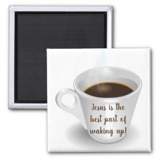 Cute Jesus Coffee Magnet   Kitchen Decor