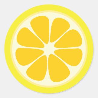 Cute Juicy Citrus Lemon Tropical Fruit Slice Classic Round Sticker