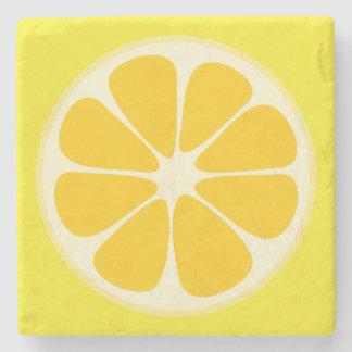 Cute Juicy Citrus Lemon Tropical Fruit Slice Stone Coaster
