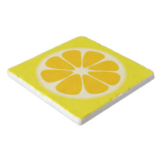 Cute Juicy Citrus Lemon Tropical Fruit Slice Trivet