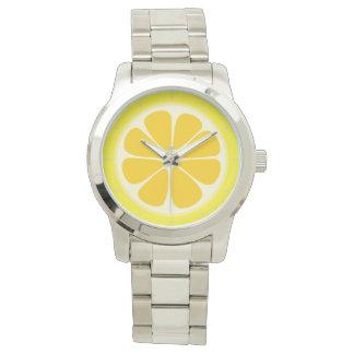 Cute Juicy Citrus Lemon Tropical Fruit Slice Watch