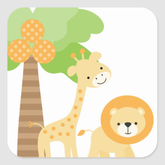 Cute Jungle Animal Stickers