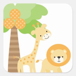 Cute Jungle Animal Stickers