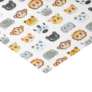Cute Jungle Animals Pattern Tissue Paper
