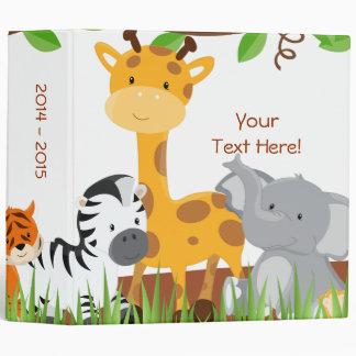 Cute Jungle Baby Animal Photo Album Vinyl Binder