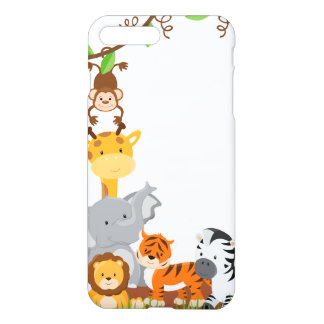 Cute Jungle Baby Animals Case Savvy iPhone 7 Plus