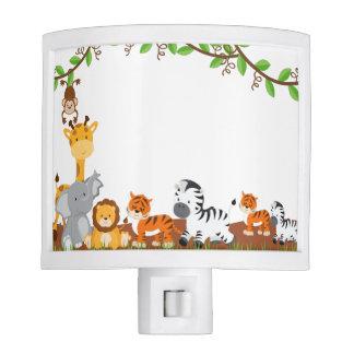 Cute Jungle Baby Animals Night Light