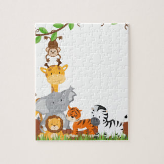 Cute Jungle Baby Animals Puzzles