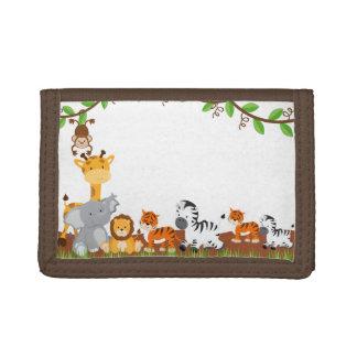 Cute Jungle Baby Animals Wallet