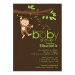 Cute Jungle Monkey Baby Shower Invitations