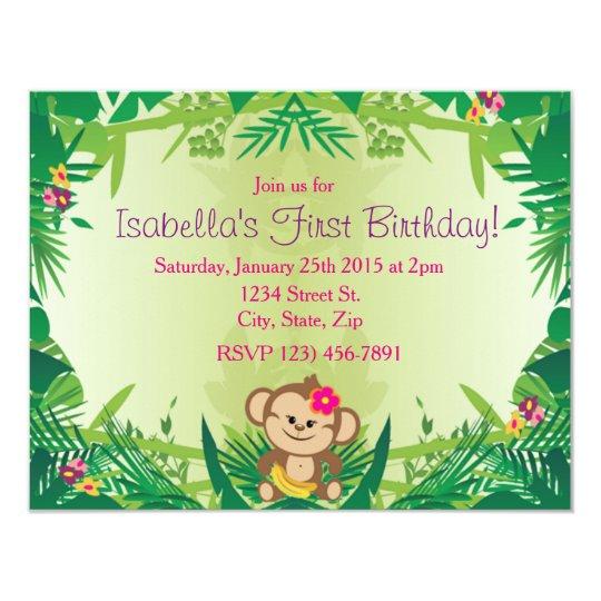 Cute Jungle Monkey Celebration Card