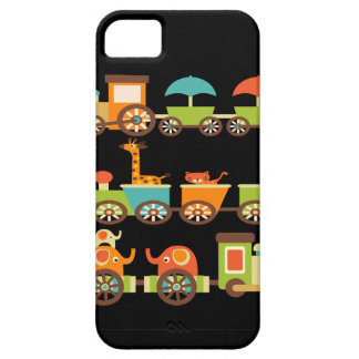 Cute Jungle Safari Animals Train Gifts Kids Baby iPhone 5 Cover