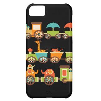 Cute Jungle Safari Animals Train Gifts Kids Baby iPhone 5C Cases