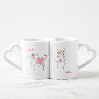 cute just married Lovers' coffee mug