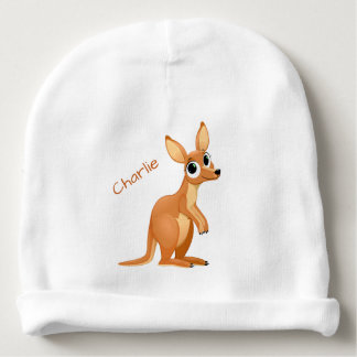Cute Kangaroo custom name baby beanie