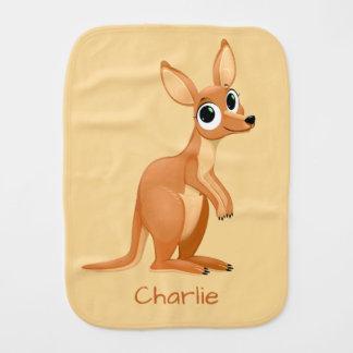 Cute Kangaroo custom name burp cloth