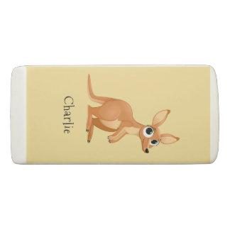 Cute Kangaroo custom name eraser