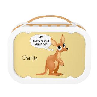 Cute Kangaroo custom name & text lunch box
