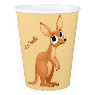 Cute Kangaroo custom text paper cups