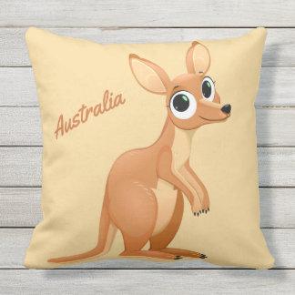 Cute Kangaroo custom text throw pillows