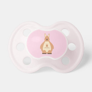 Cute Kangaroo Pink Baby Girl Pacifier