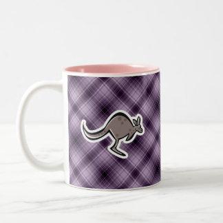 Cute Kangaroo; Purple Two-Tone Coffee Mug