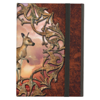 Cute kangaroo with baby in a fantasy landscape case for iPad air