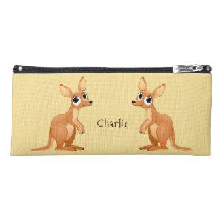 Cute Kangaroos custom name pencil case