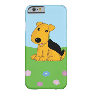 Cute Kawaii Airedale Dog in Field iPhone 6/6s Case