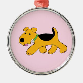 Cute Kawaii Airedale Puppy Dog Premium Ornament